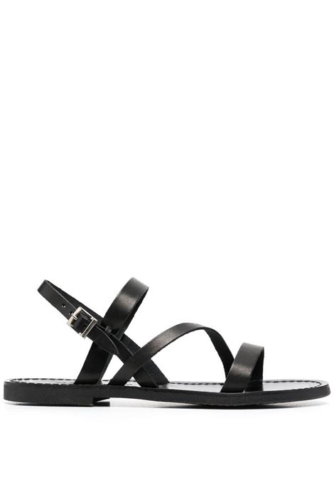 Black leather and rubber open-toe sandals  P.A.R.O.S.H. |  | D070160-TUNYSHOE013