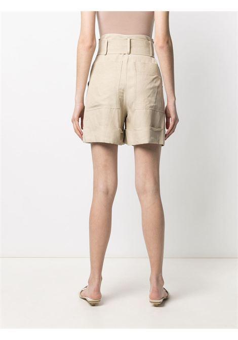 Pantaloncini a vita alta beige chiaro con cintura annodata P.A.R.O.S.H. | Shorts | D210080-RAISA004