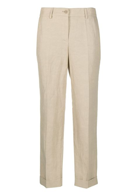 Beige linen slim-fit tailored trousers  P.A.R.O.S.H. |  | D231021-RAISA004