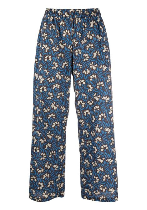 blue cotton floral-print wide-leg trousers  P.A.R.O.S.H. |  | D231458-CLEPTO846