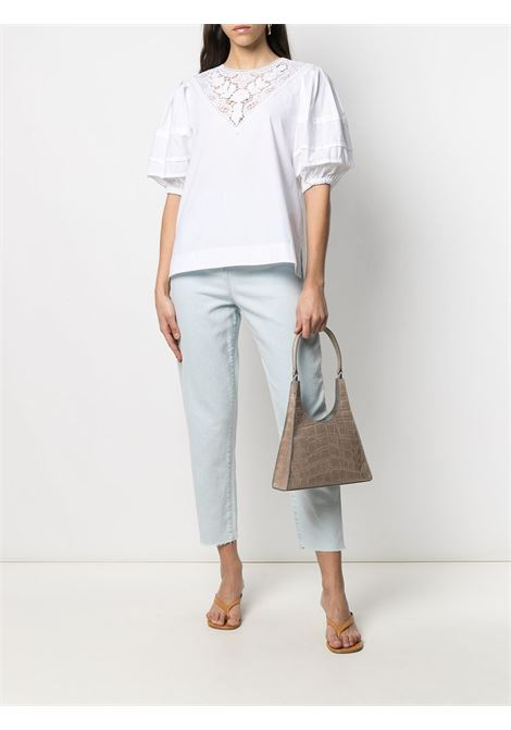 Camicetta bianca con pannelli in pizzo P.A.R.O.S.H. | T-shirt | D312224-CANYOX001