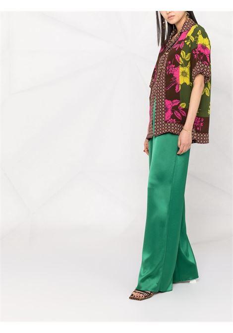 Camicia patchwork in seta rossamulticolore P.A.R.O.S.H. | Camicie | D381023-SAFIX807