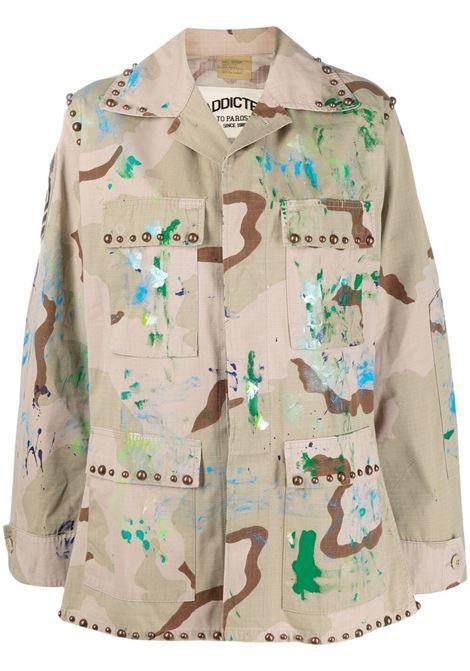 Giacca militare color kaki in misto cotone con stampa camouflage P.A.R.O.S.H. | Giacche | D430818S-CATCRUSH803