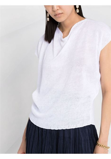 White linen and flax tie-back knitted top  P.A.R.O.S.H. |  | D510307-BLING001