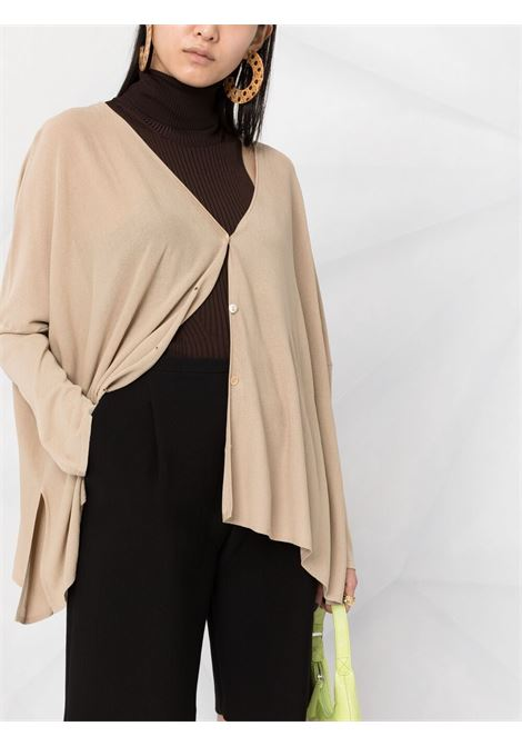Beige fine-knit front button cardigan  P.A.R.O.S.H. |  | D520692-ROIBOS004