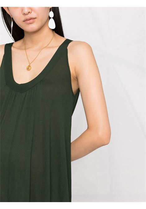 Deep-green U-neck sleeveless maxi dress  P.A.R.O.S.H. |  | D550685-ROIBOS007