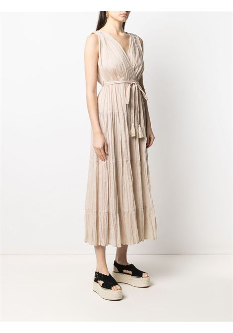 Beige cotton crepe-gathered dress P.A.R.O.S.H. |  | D721528-CAPODE004