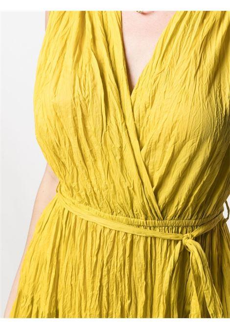 Abito midi smanicato in cotone giallo P.A.R.O.S.H. | Abiti | D721528-CAPODE016