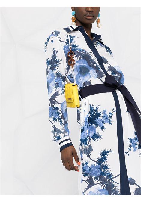 White and blue silk floral-print shirt dress  P.A.R.O.S.H. |  | D723493-SEBLU812