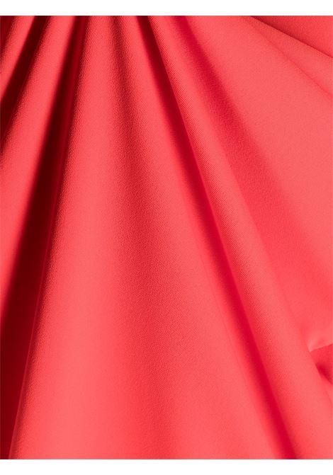 Abito rosso in raso con ruches P.A.R.O.S.H. | Abiti | D724057-PANTY009