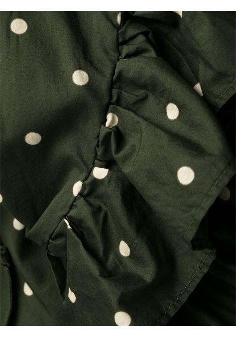 Abito lungo Clois in cotone verde con stampa a pois P.A.R.O.S.H. | Abiti | D724145-CLOIS807