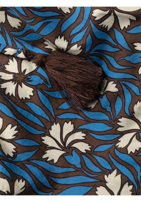 miniabito svasato con stampa floreale in cotone blu P.A.R.O.S.H. | Abiti | D724147-CLEPTO846
