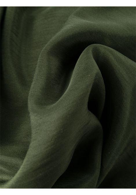 Abito lungo a balze in seta verde muschio P.A.R.O.S.H. | Abiti | D724174-SHATAI007