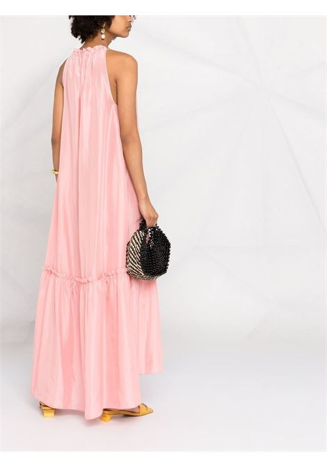 Rose pink silk sleeveless halterneck maxi dress  P.A.R.O.S.H. |  | D724174-SHATAI025