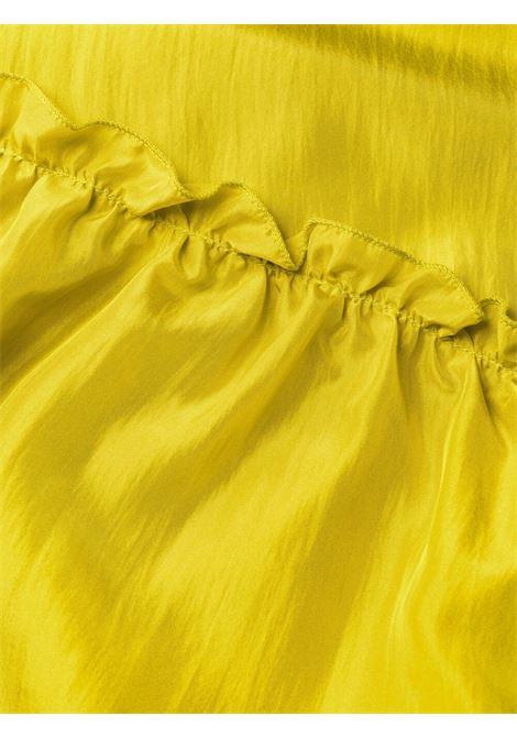 Abito midi in seta giallo senape con balze P.A.R.O.S.H. | Abiti | D724175-SHATAY035