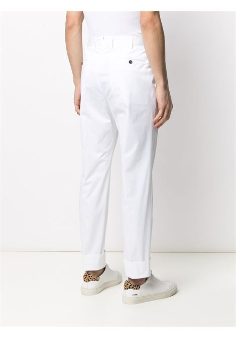 White stretch cotton straight-leg tailored trousers   PT01 |  | COASFKZ00CL1-MP270010