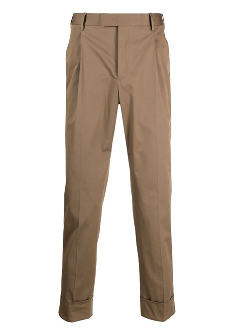 Tabacco brown stretch-cotton pressed-crease tailored trousers PT01 |  | COASFKZ00CL1-MP270167