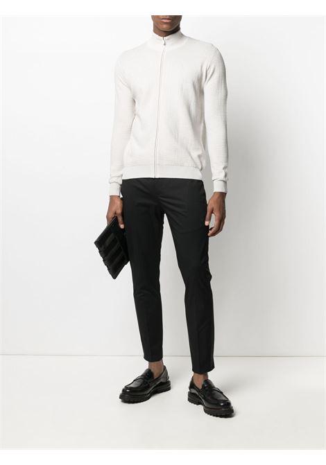 Black stretch-cotton cropped slim-fit chinos  PT01 |  | COASX0Z00FWD-MP270990
