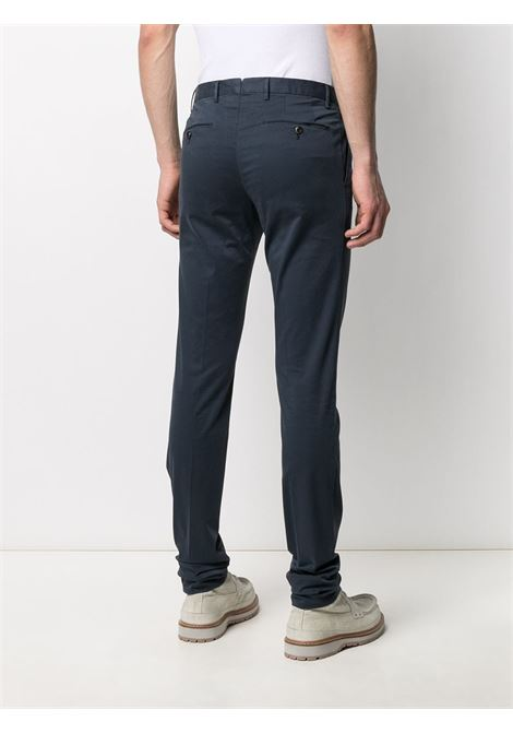 Blue cotton blend pleat detail chinos  PT01 |  | CODT11Z00CL1-RO050374