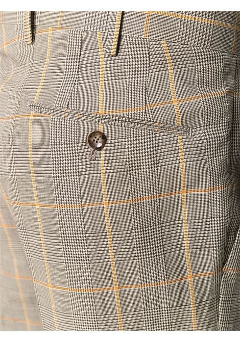 Beige and orange linen-cotton check trousers  PT01 |  | COHS22ZS0SUM-MP610170