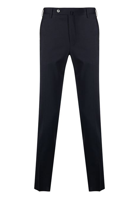 Navy blue stretch wool blend low-rise skinny trousers  PT01 |  | COKSTVZ00TVL-PO350360