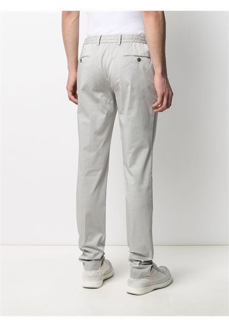 Grey cotton blend straight leg chinos  PT01 |  | COWTJ1ZA0TVL-NU050020