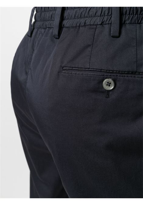 Blue cotton blend pleat detail chinos  PT01 |  | COWTJ1ZA0TVL-NU050374