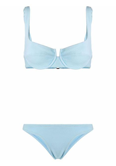 bikini Brigitte azzurro elasticizzato REINA OLGA | Costumi | BRIGITTEBABY BLUE TERRY