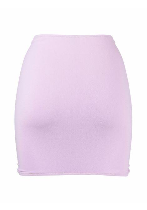 Gonna Geraldina lilla caratterizzata in tessuto elasticizzato REINA OLGA | Gonne | GERALDINAPINK TERRY