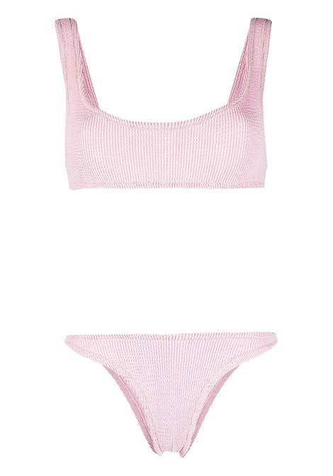 Pastel-pink stretch-cotton Ginny textured bikini REINA OLGA |  | GINNY SCRUNCHPASTEL PINK
