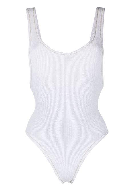 Costume intero in seersucker di poliammide bianco REINA OLGA | Costumi | RUBY SCRUNCHWHITE