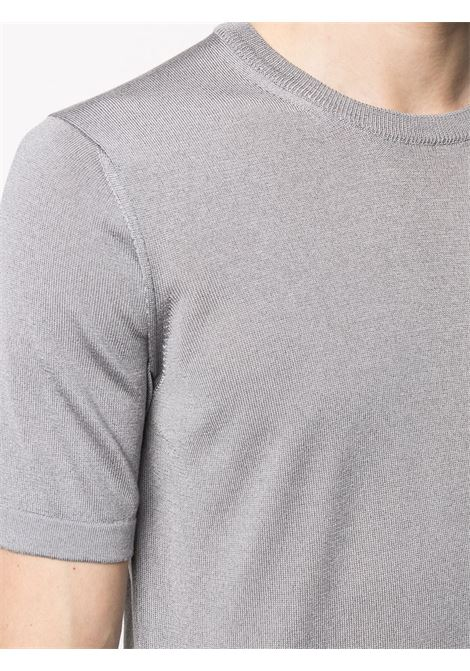 Grey cotton blend crew-neck fitted T-shirt  ROBERTO COLLINA |  | RE2002119