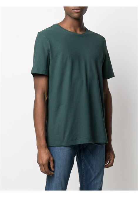 Teal cotton T-shirt featuring round neck ROBERTO COLLINA |  | RE9002124