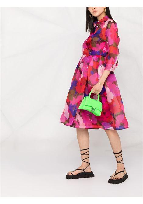 Pink silk Elena floral-print silk dress  SARA ROKA |  | ELENASD67-35-S2130A