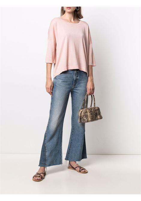 Top in maglia rosa chiaro in seta e cashmere SNOBBY SHEEP | Maglieria | 21S.90020310