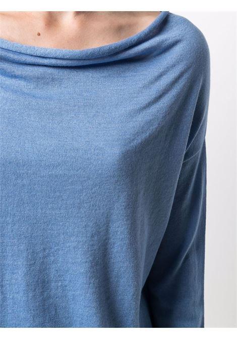Maglia celeste in seta e cashmere con scollo a cappuccio SNOBBY SHEEP | Maglieria | 21S.90200600