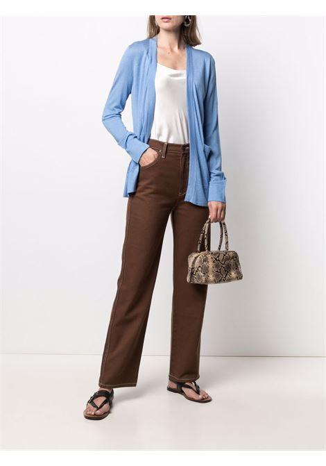 Cardigan aperto a costine in seta e cashmere azzurro chiaro SNOBBY SHEEP | Cardigan | 21S.90220600