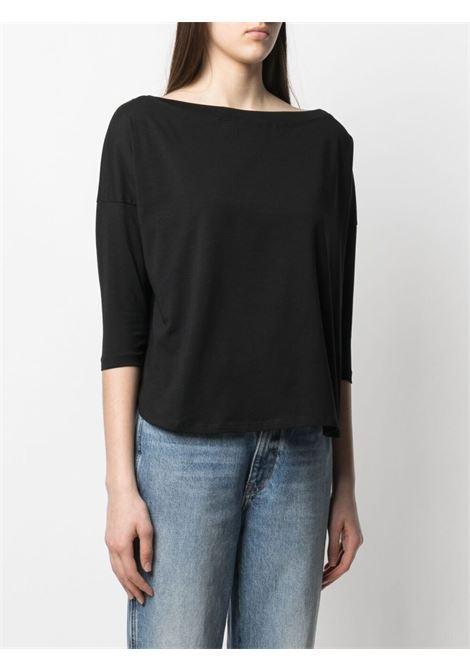 Maglia nera in jersey con scollo a barchetta SNOBBY SHEEP | T-shirt | 21S.98010999