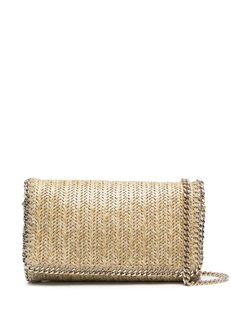 Gold-tone Falabella chain-trimmed shoulder bag featuring metallic sheen STELLA MC CARTNEY |  | 291622-W8788T701