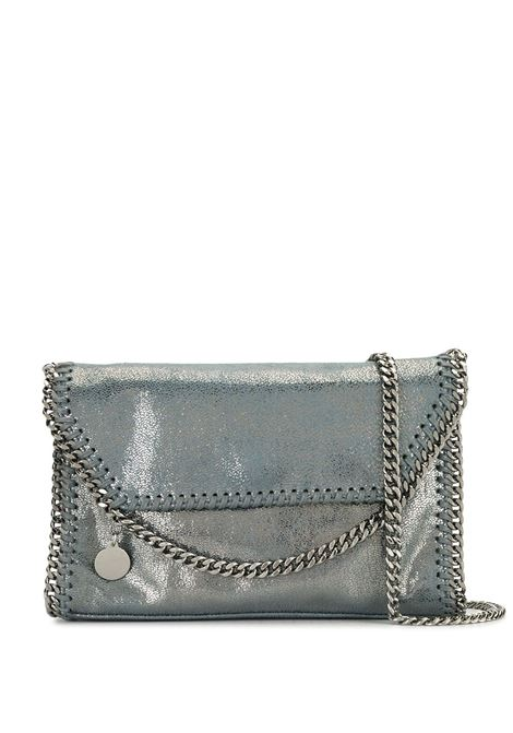 Mini borsa a tracolla Falabella in pelle blu con finiture in maglia di catena argento STELLA MC CARTNEY | Borse a tracolla | 364519-W90564107