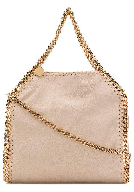 mini tote Falabella in morbida ecopelle color sabbia con finiture in catena color oro STELLA MC CARTNEY | Borse a tracolla | 371223-W93559300