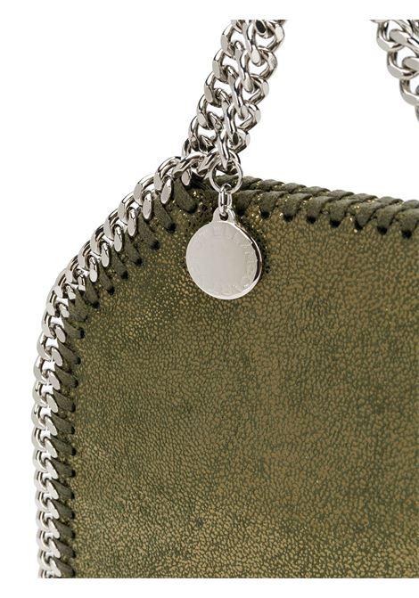 Mini borsa Falabella verde con tracolla silver a catena STELLA MC CARTNEY | Borse a tracolla | 391698-W87452942