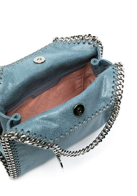 Mini borsa tote Falabella in ecopelle blu con finiture argento a catena STELLA MC CARTNEY | Borse tote | 391698-W91324313