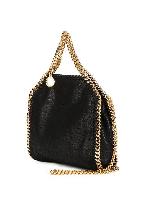 mini borsa tote Falabella in ecopelle nera con catena dorata STELLA MC CARTNEY | Borse tote | 391698-W93551000