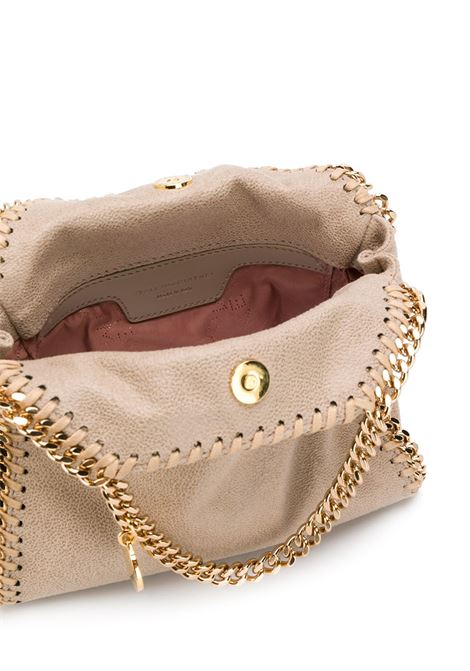 Borsa nano Falabella in ecopelle crema con finiture a catena diamantate in oro STELLA MC CARTNEY | Borse tote | 391698-W93559300