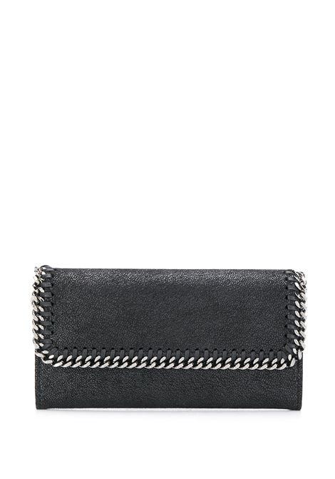 portafoglio continental nero Falabella con catena argento STELLA MC CARTNEY | Portafogli | 430999-W91321000