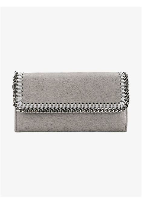 silver chain trim grey Falabella continental wallet  STELLA MC CARTNEY |  | 430999-W91321220