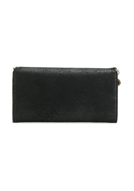 black eco-friendly faux leather Falabella wallet with gold chain STELLA MC CARTNEY |  | 430999-W93551000