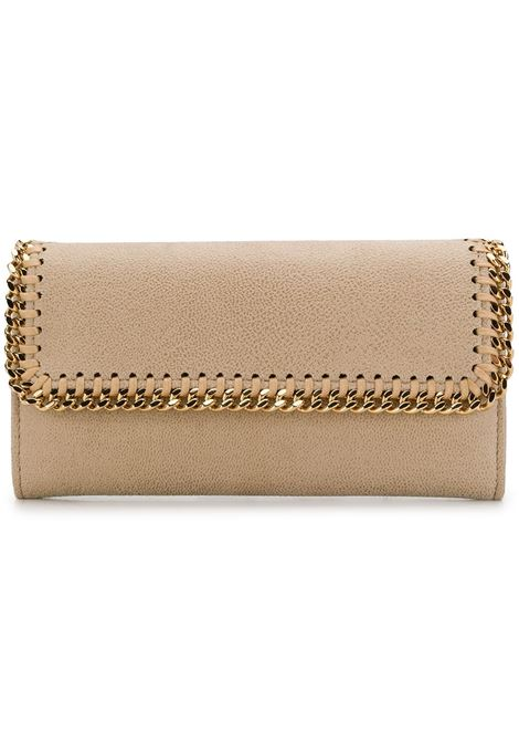 beige artificial leather Falabella wallet with gold chain STELLA MC CARTNEY |  | 430999-W93559300