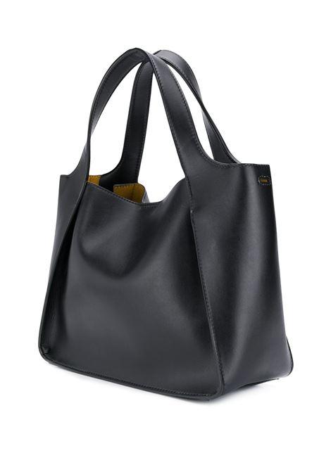 borsa tote Stella Logo in ecopelle liscia nera STELLA MC CARTNEY | Borse a tracolla | 513860-W85421000